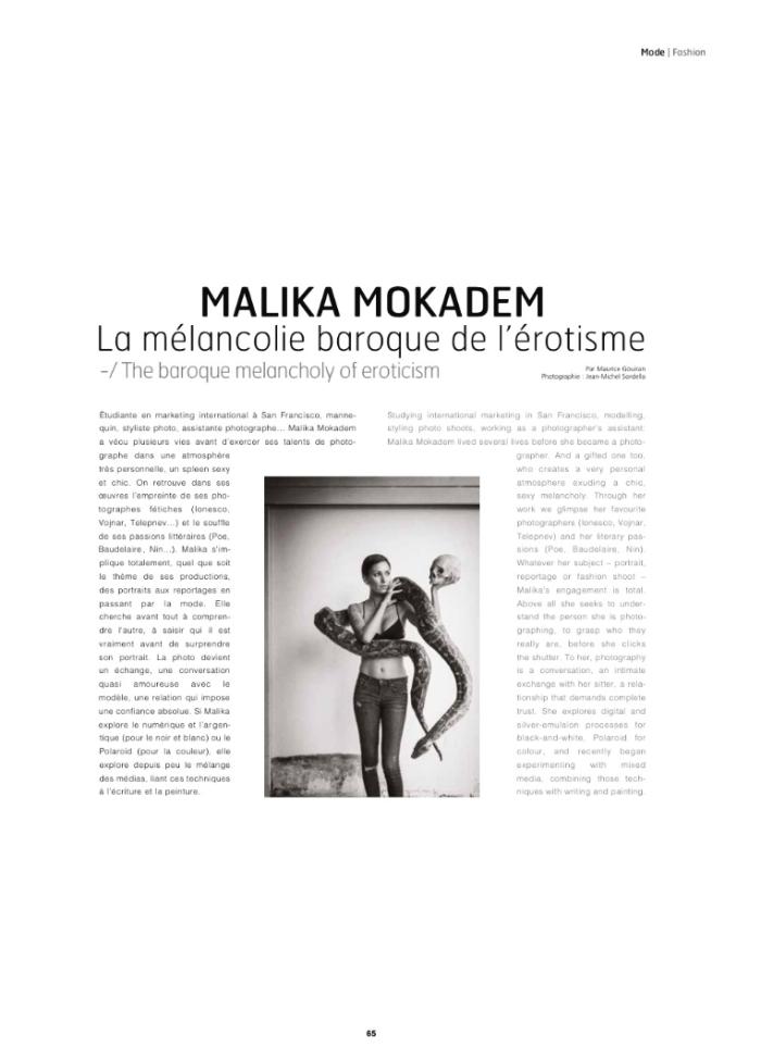 Cote Collector 2015 Malika Mokadem